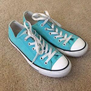 Teal Blue Converse Sneakers